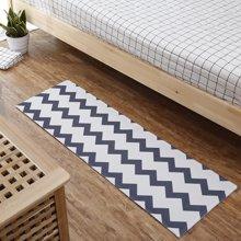 卧室床边阳台圈绒印花地垫长条卫生间防滑吸水防油踩脚垫厨房地毯