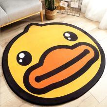 小黄鸭圆形家用地毯地垫 卡通造型客厅沙发卧室加厚防滑脚垫