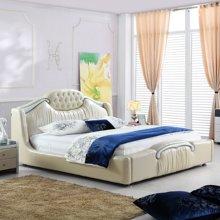 皇家爱慕现代欧式 简约 时尚真皮床结婚床1.8*2米