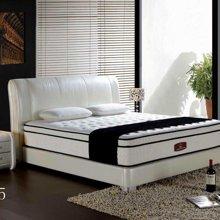 皇家爱慕现代简约时尚白色真皮大床