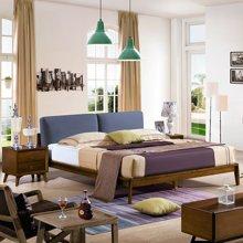 皇家爱慕 实木床1.5米1.8米简约北欧白蜡木床卧室双人床