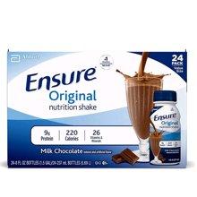 【24瓶】【美国】ABBOTT雅培 Ensure成人营养液复合液体安素237ml 巧克力味