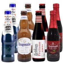 【女士喜爱,精酿啤酒组合】1664 精选啤酒包 1664白啤 福佳 乐曼 林德曼 共8瓶 330ml*4+ 250ml*4(1664组合)
