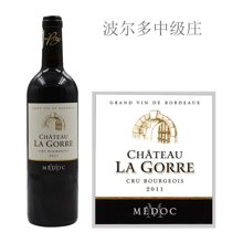 法国波尔多中级庄 拉歌亚酒庄红葡萄酒 2011年