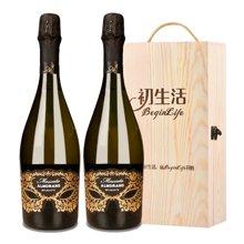 【约会派对精品酒】意大利进口 爱佳诺莫斯卡托甜白起泡酒 750ml (2支木盒装)