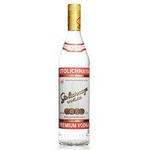 俄罗斯拉脱维亚进口洋酒 苏联红STOLICHNAYA伏特加 750ml 40度