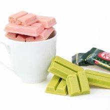 日本进口零食 kitkat雀巢抹茶味巧克力涂层威化夹心饼干136g