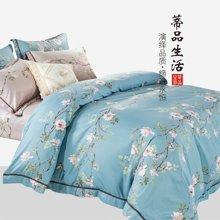 蒂品生活(DIPINHOME)家纺 罗密花径纯棉四件套 AB版田园风格床上用品 两人用