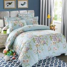 VIPLIFE高端全棉活性印花加厚磨毛纯棉四件套床单被套