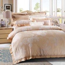 富安娜家纺 床上用品四件套 秋冬1.5米/1.8米床全棉欧式大提花套件 圣彼得堡