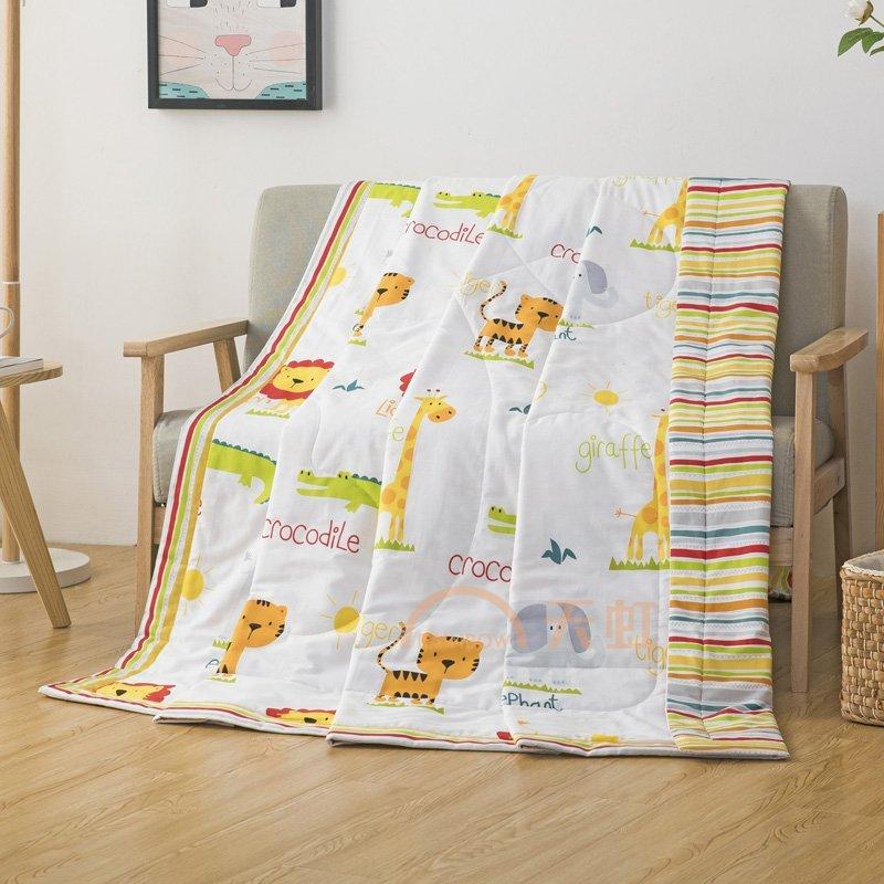 芒更家纺 森林王国 舒适透气 全棉印花夏被空调被-150