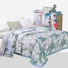 蒂品生活(DIPINHOME)家纺  印花夏被  夏天用薄被子 棉絮被芯 亲肤空调凉被 单双人薄被 花色随机发送