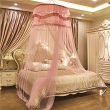 米卡多圆顶吊顶蚊帐1.5m1.8m床双人家用落地宫廷1.2米公主风免安装床幔圆顶88157