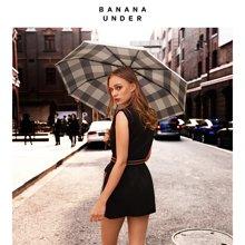 【新品】BANANA UNDER蕉下切尔西小黑伞双层女太阳防晒晴雨伞折叠