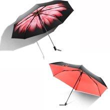 BANANA UNDER蕉下浅妃+杜鹃红三折小黑伞双层女太阳伞防晒晴雨伞折叠