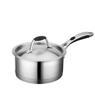 爱仕达欧式16cm不锈钢奶锅汤锅煮锅一锅多用电磁炉通用ql1916-16cm