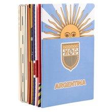 晨光文具 足球世界系列12本装A5/36页缝线本软抄本记事本笔记本子套装HAPY0274