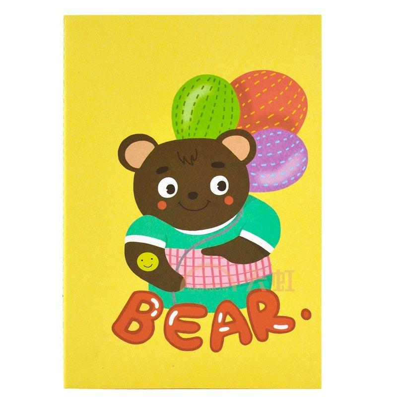 iscream上品汇a5卡通笔记本小学生日记本绘画涂鸦空白本-黄色-彩球