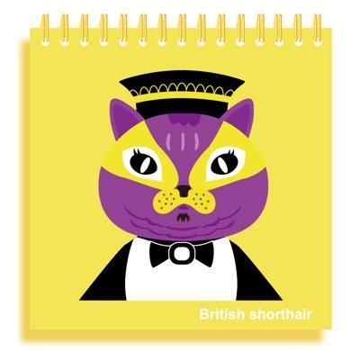 上品汇空白本线圈本绘画本儿童素描本涂鸦本小学生笔记本 猫先生款