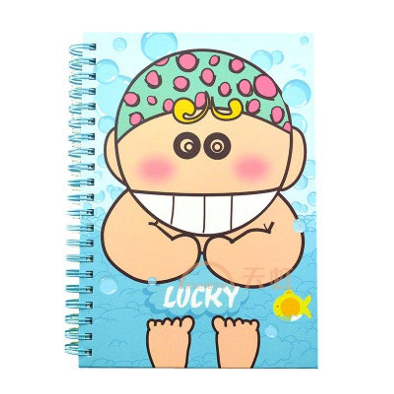 上品汇可爱卡通b6厚线圈本彩色内页小学生笔记本日记