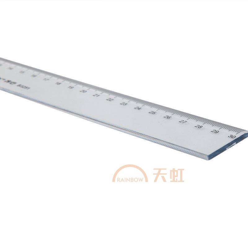 齐心,精准刻度直尺30cm,b3251-透明