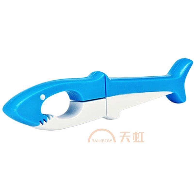 三件包邮上品汇创意动物剪刀学生手工剪纸剪刀折叠安全便携剪刀-蓝色