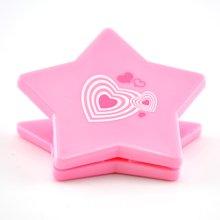 上品汇五角星夹子票据夹可爱彩色夹子学生办公塑料夹书夹弹簧夹子