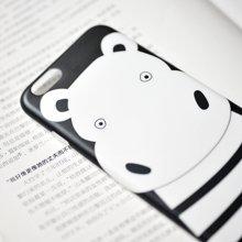 冇心条纹河马iphone6/6P手机壳 可爱文艺保护套 支架礼品