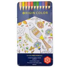 ISCREAM上品汇12色彩色铅笔儿童小学生绘画笔填色笔彩画笔涂色笔