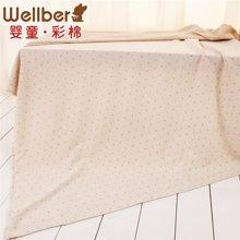 威尔贝鲁 纯棉婴儿床单新生宝宝彩棉秋冬床罩幼儿园床上用品床笠