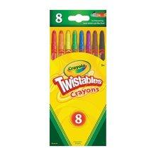 【美国】Crayola绘儿乐 8色可拧转蜡笔 防摔断 儿童文具 3岁以上