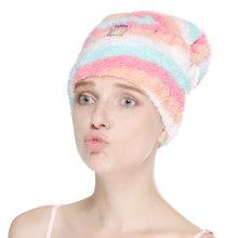 姣兰 米菲 超细纤维 长绒加厚 快速干发巾/干发帽 彩条款