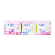 ABC日用+夜用纤薄棉柔排湿网面卫生巾((8+8+8)片)