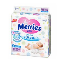 日本原装进口花王Merries纸尿裤-腰贴式NB90片(0-5kg)