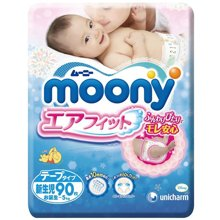 尤妮佳Moony婴儿纸尿裤NB NC2(90片)