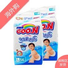 日本原装进口 大王维E纸尿裤L54片装 宝宝婴儿尿不湿(2包装)