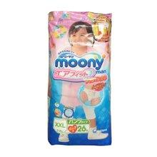 日本Moony 尤妮佳女宝宝拉拉裤(XXL26片)