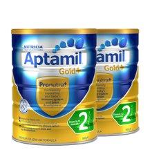 【2罐装】澳洲Aptamil爱他美 金装奶粉2段 900g(新西兰可瑞康)