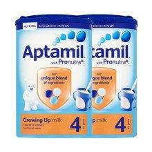 【2罐装】英国Aptamil爱他美婴儿奶粉4段(2-3周岁宝宝)800g/罐