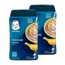 【2盒装】【美国】嘉宝Gerber香蕉燕麦2段米粉227g