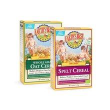 Earths Best爱思贝德国进口婴幼儿高铁米粉宝宝辅食燕麦混合小麦2盒装