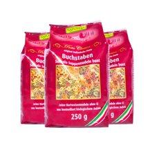 【3包装】【德国】Rapunzel长发公主有机宝宝小麦蔬菜汁彩色数字字母面条250g (红色装)