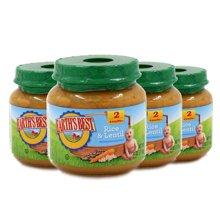 Earths Best爱思贝美国进口糙米扁豆混合泥婴幼儿佐餐泥113g*4罐
