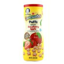 【美国】嘉宝Gerber泡芙饼干星星泡芙饼干42g 草莓苹果味