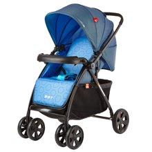 好孩子婴儿推车轻便高景观折叠可躺可坐全篷双向避震手推车(蓝色C300-N303BB)