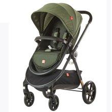 2017新品gb好孩子时尚亲子婴儿推车轻便舒适避震婴儿车GB105(军绿色(GB105-Q208GG))