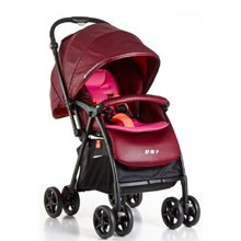 Goodbaby/好孩子 红色超轻便携折叠高景观可躺坐婴儿推车(0-3岁) C826-H
