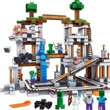 儿童积木玩具儿童拼接玩具我的世界矿井村庄益智拼插环保塑料922颗粒TTL79074