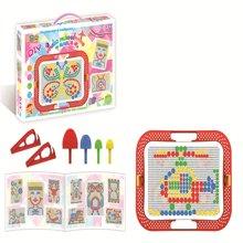 邦迪  2015新款JYX-003 环保无害 智力美术魔法拼盘 儿童早教益智塑料拼图 智力宝宝拼插玩具