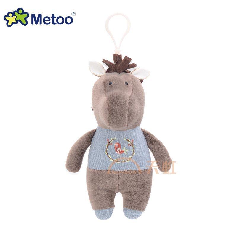 metoo牧歌物语 可爱小兔子羊吊饰摆件布偶娃娃毛绒玩具 礼物-湖蓝灰